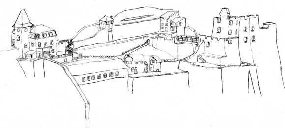 Skizze der Burg